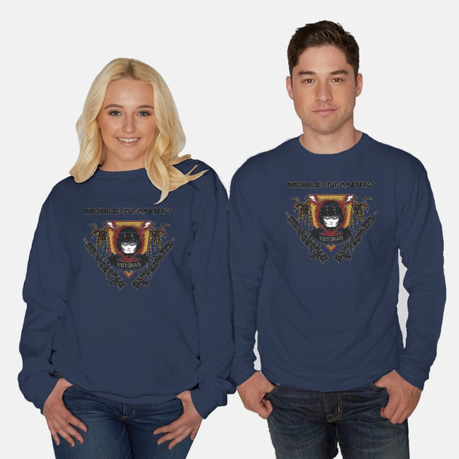 Veteran Badge-unisex crew neck sweatshirt-spacemonkeydr