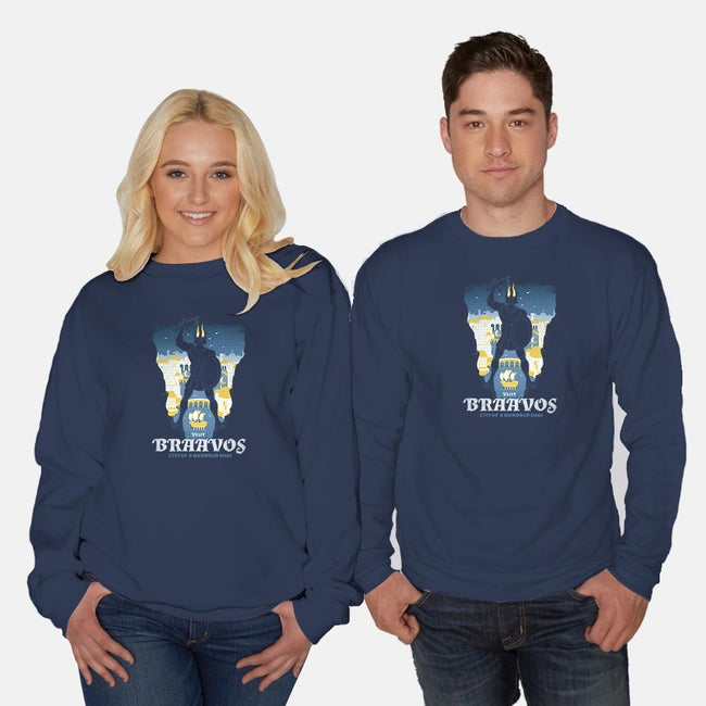 City of a Hundred Isles-unisex crew neck sweatshirt-queenmob