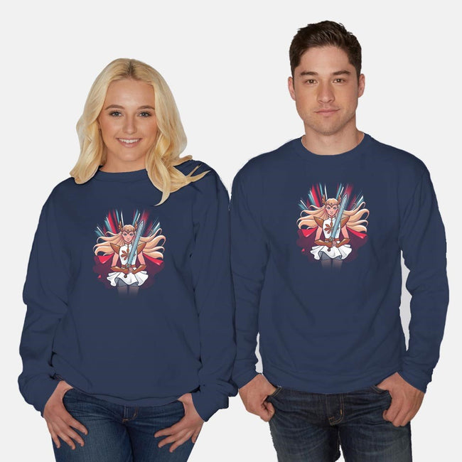 Princess of Power-unisex crew neck sweatshirt-ursulalopez