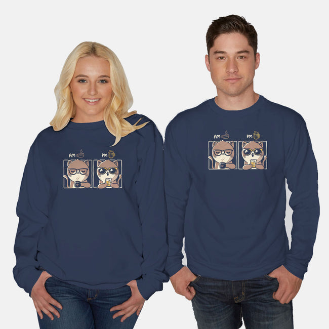 AM PM-unisex crew neck sweatshirt-eduely
