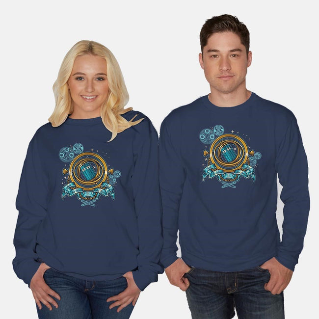 Turn the Time, Twist the Space-unisex crew neck sweatshirt-Letter_Q