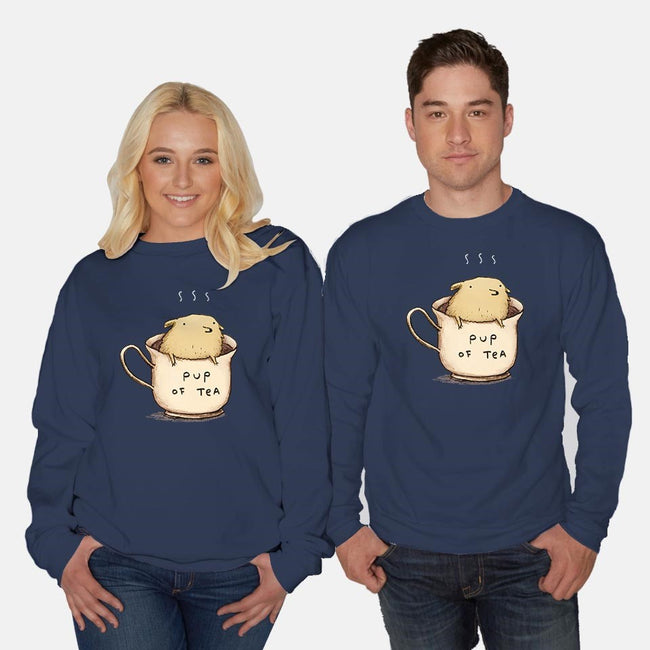 Pup of Tea-unisex crew neck sweatshirt-SophieCorrigan