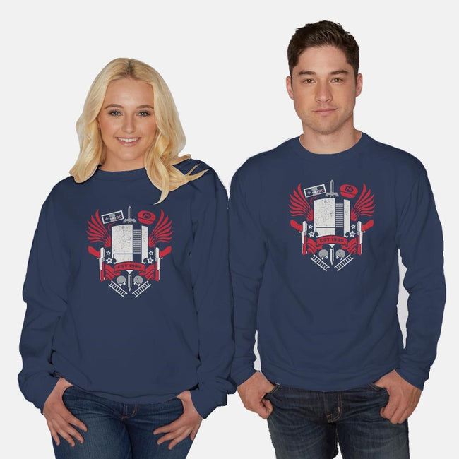 Power Crest-unisex crew neck sweatshirt-jrberger