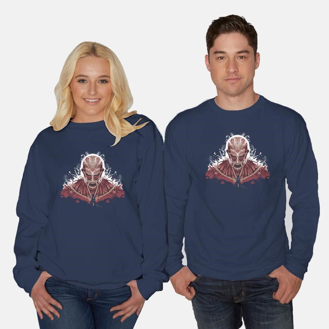 Ink on Titan-unisex crew neck sweatshirt-2mzdesign