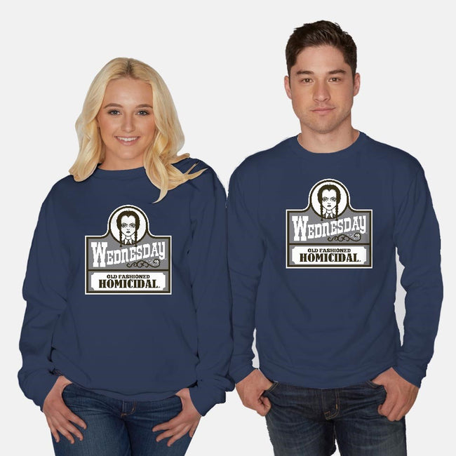 Old Fashioned Homicidal-unisex crew neck sweatshirt-Nemons