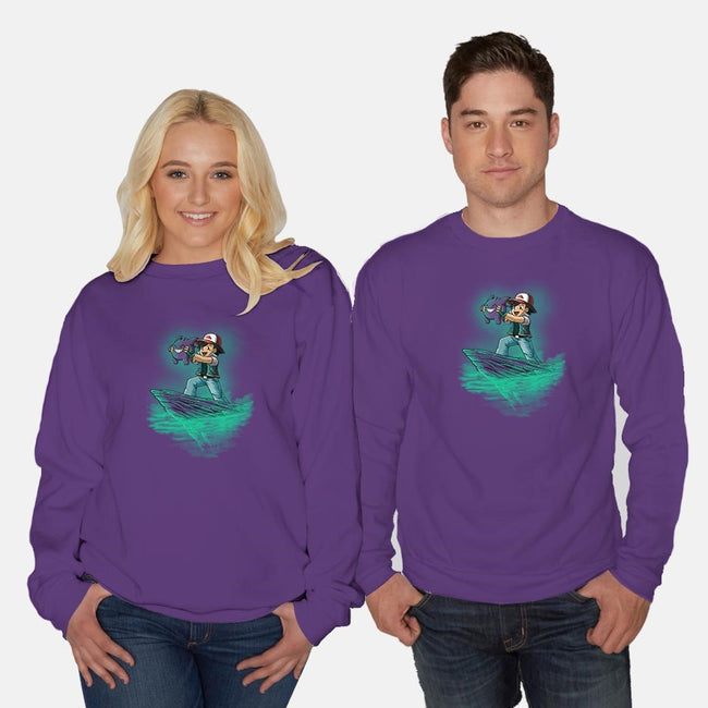 The Ghost King-unisex crew neck sweatshirt-TonyCenteno