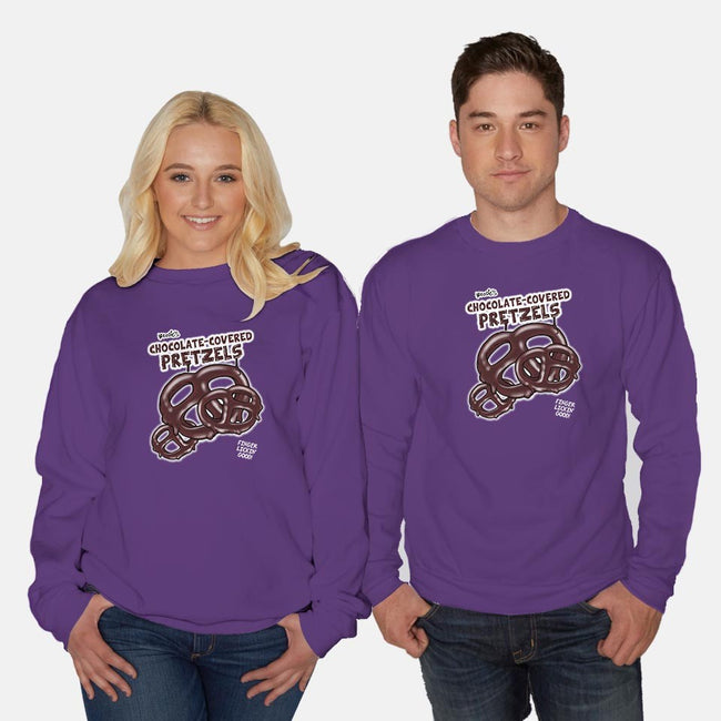 Chocolate Covered Pretzels-unisex crew neck sweatshirt-cjboucher