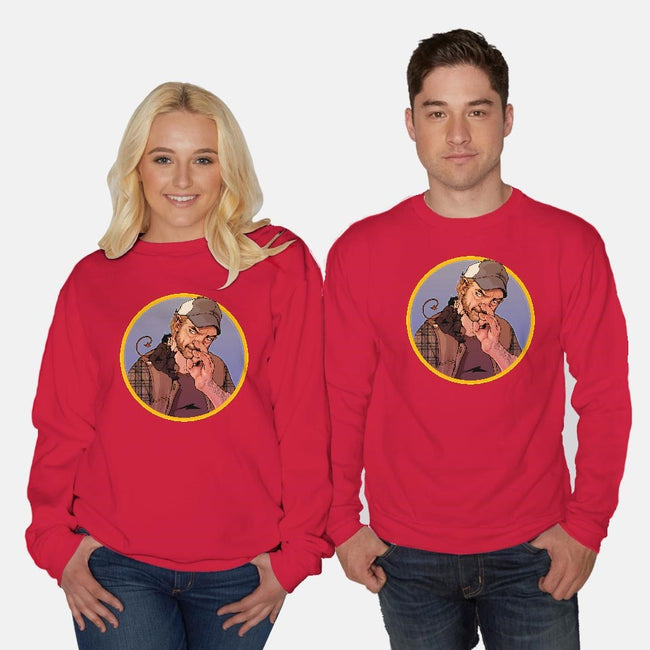 Devil On Your Shoulder-unisex crew neck sweatshirt-Gorlassar