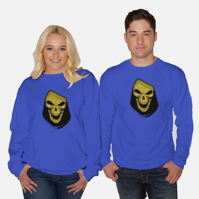 Face of Evil-unisex crew neck sweatshirt-Skullpy