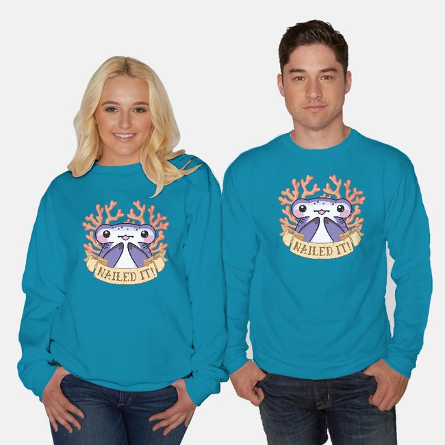 Nailed It-unisex crew neck sweatshirt-bytesizetreasure