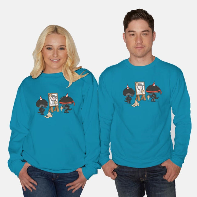 Alien Party Games-unisex crew neck sweatshirt-queenmob