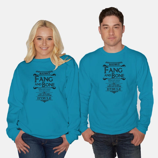 Kilton's Fang and Bone-unisex crew neck sweatshirt-mattographer