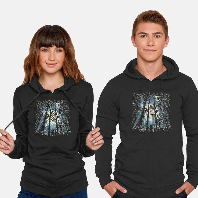 UFO In The Trees-unisex pullover sweatshirt-dalethesk8er
