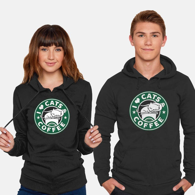 I Love Cats and Coffee-unisex pullover sweatshirt-Boggs Nicolas