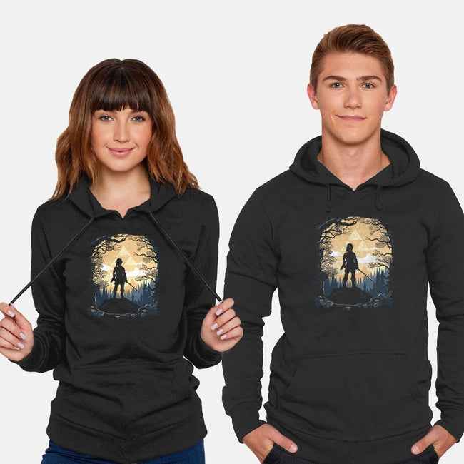 Warrior in the Forest-unisex pullover sweatshirt-albertocubatas