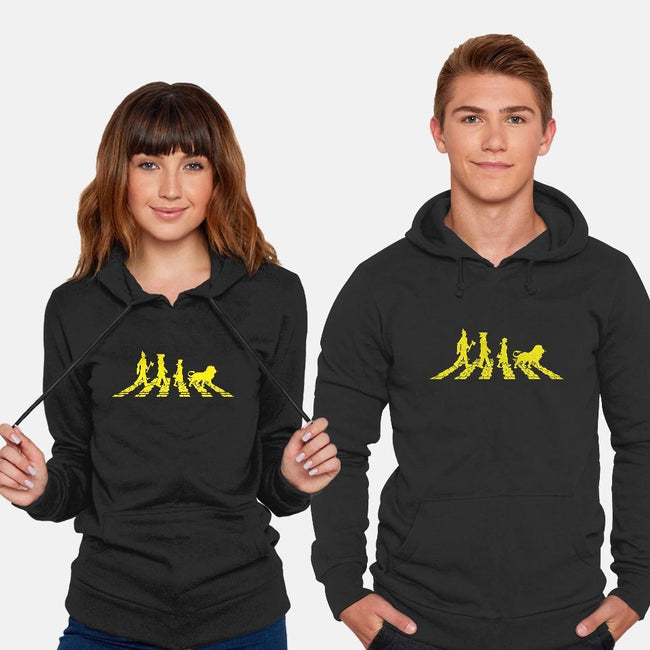 Yellow Brick Abbey Road-unisex pullover sweatshirt-JBaz