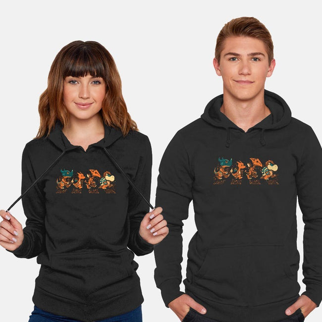 Orange Fiery Road-unisex pullover sweatshirt-PrimePremne