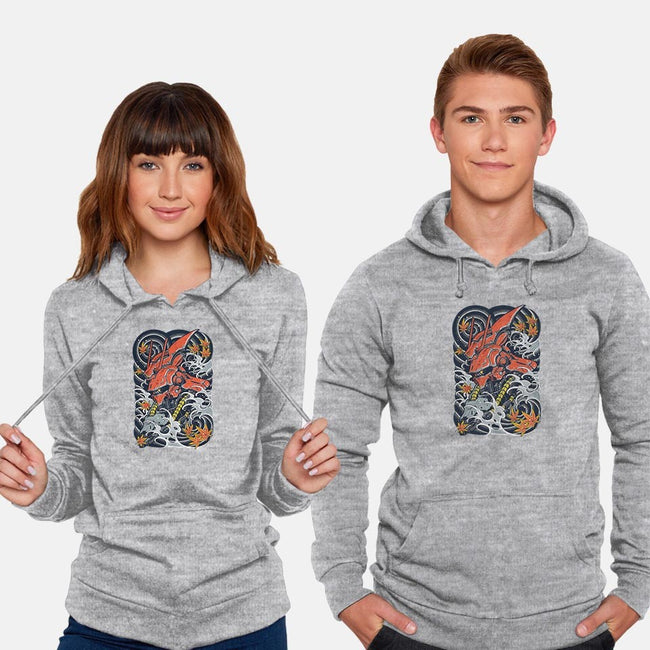 Red Mecha Ink-unisex pullover sweatshirt-Snapnfit
