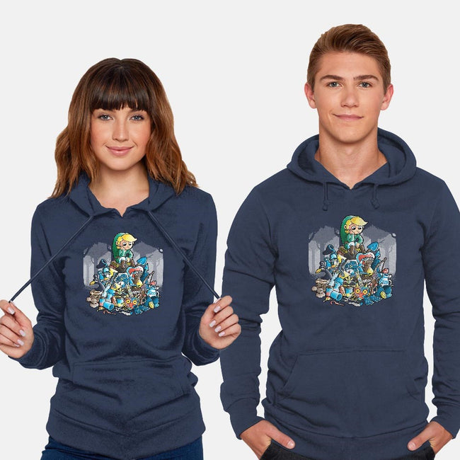 Objects-unisex pullover sweatshirt-trheewood