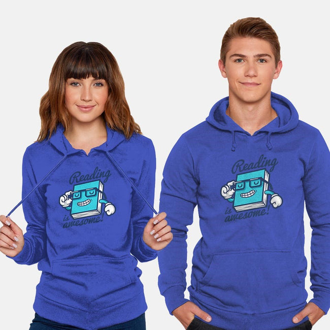 Reading is Awesome-unisex pullover sweatshirt-Oktobear