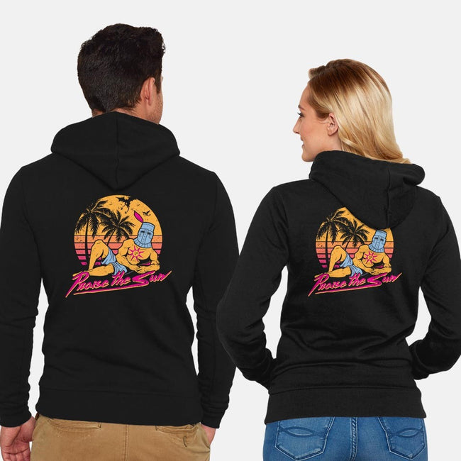 Praise the Summer-unisex zip-up sweatshirt-KindaCreative