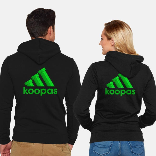 Koopas-unisex zip-up sweatshirt-ilcalvelage
