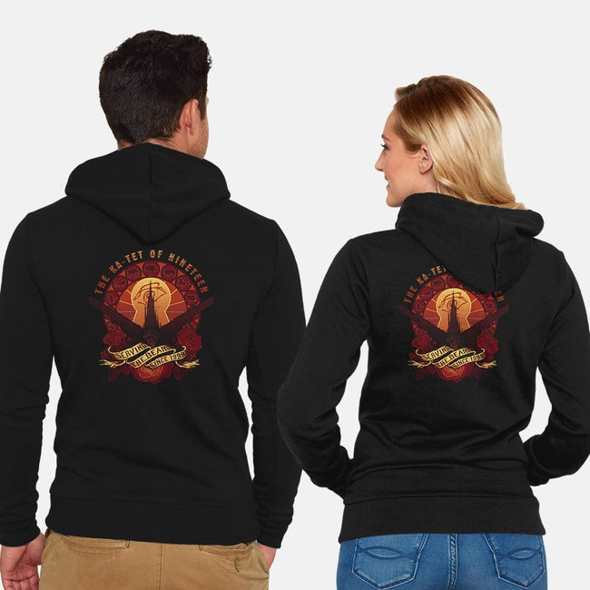 All Things Serve the Beam-unisex zip-up sweatshirt-MeganLara