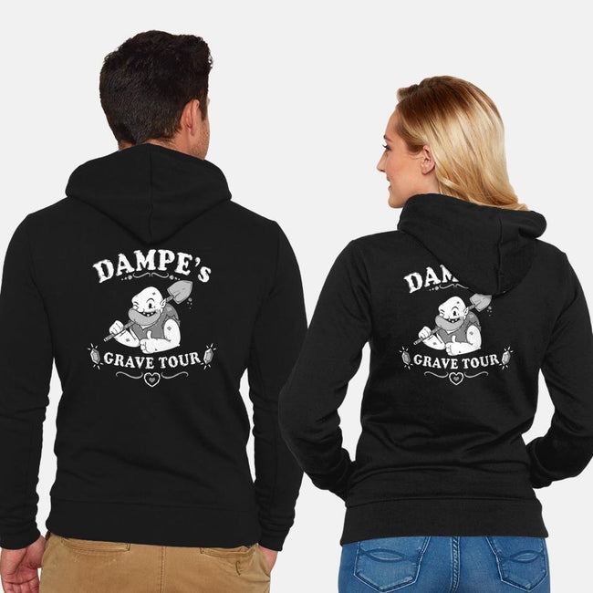Dampe's Grave Tour-unisex zip-up sweatshirt-Pengew