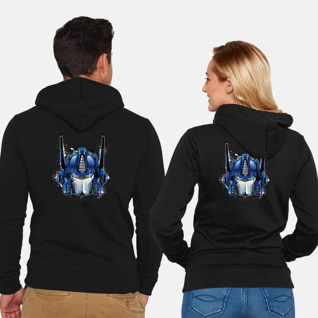 Prime-unisex zip-up sweatshirt-InkOne