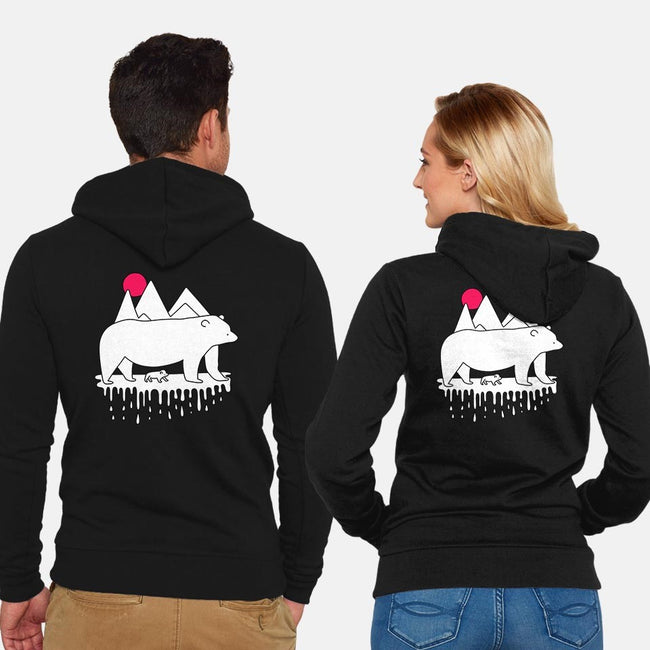 Polar Bears-unisex zip-up sweatshirt-rocketman_art