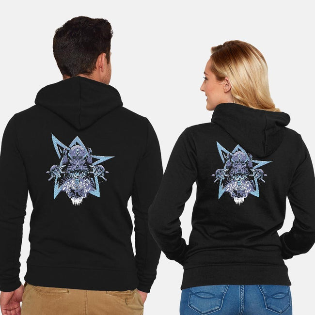 Master of Horrors-unisex zip-up sweatshirt-Nemons