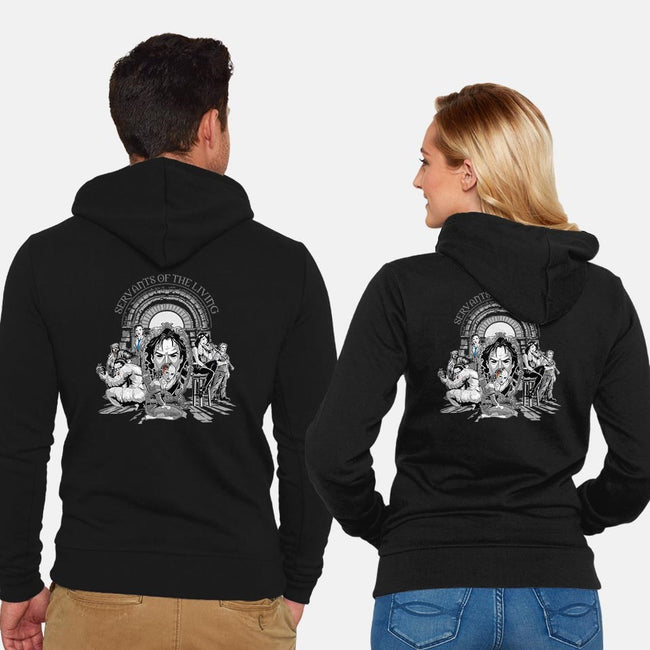 Servants of the Living-unisex zip-up sweatshirt-saqman