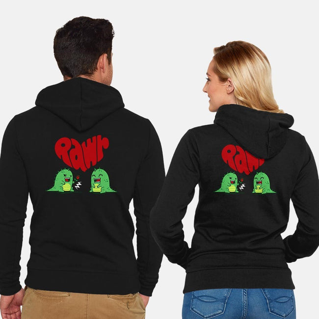 Rawr Means Love-unisex zip-up sweatshirt-Boggs Nicolas