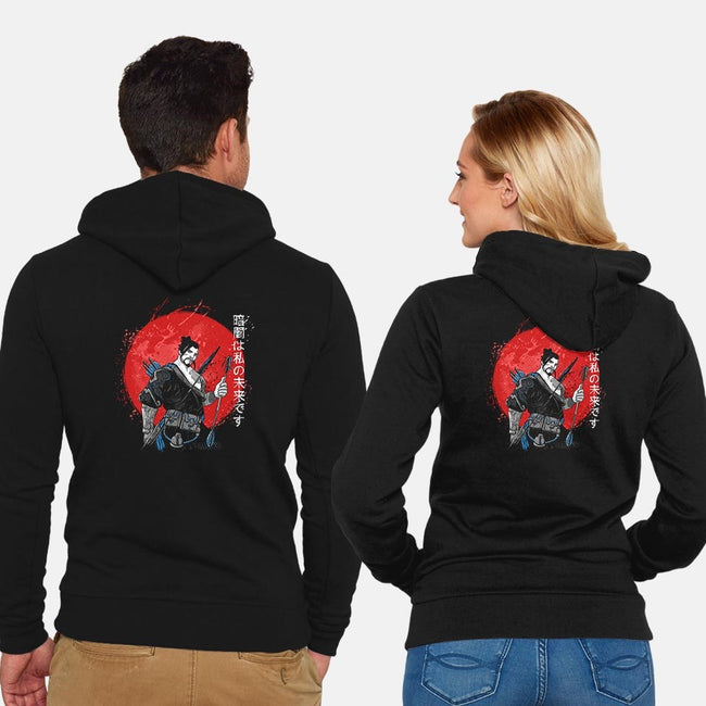 Dark Samurai-unisex zip-up sweatshirt-ducfrench