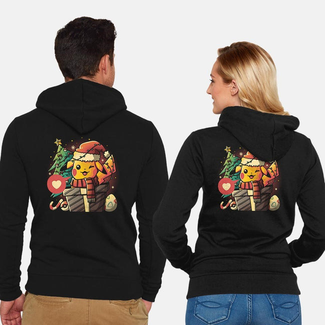 Electric Gift-unisex zip-up sweatshirt-eduely