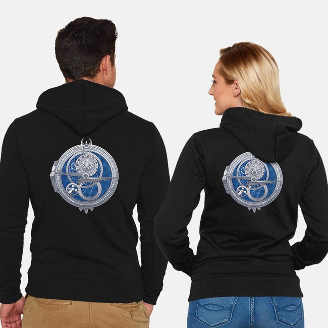 Amulet of Daylight-unisex zip-up sweatshirt-Nirosmir