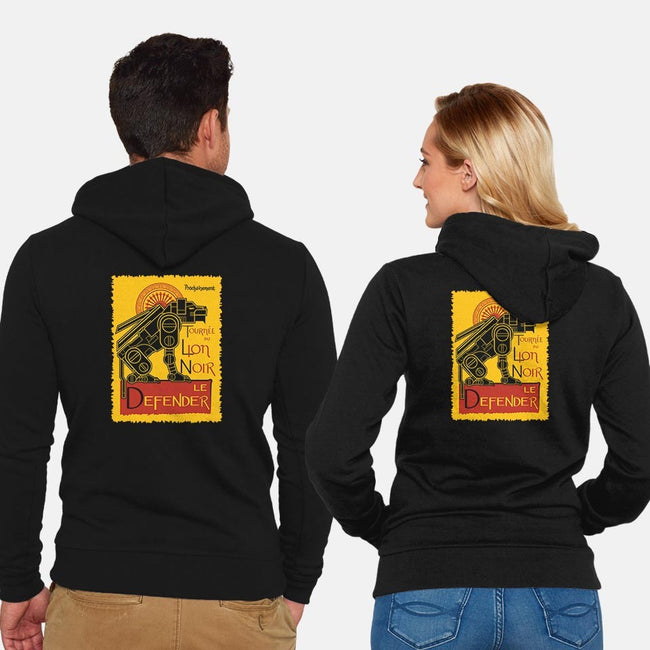 Lion Noir-unisex zip-up sweatshirt-jrberger