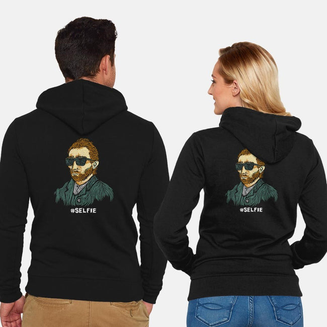 #Selfie-unisex zip-up sweatshirt-BootsBoots