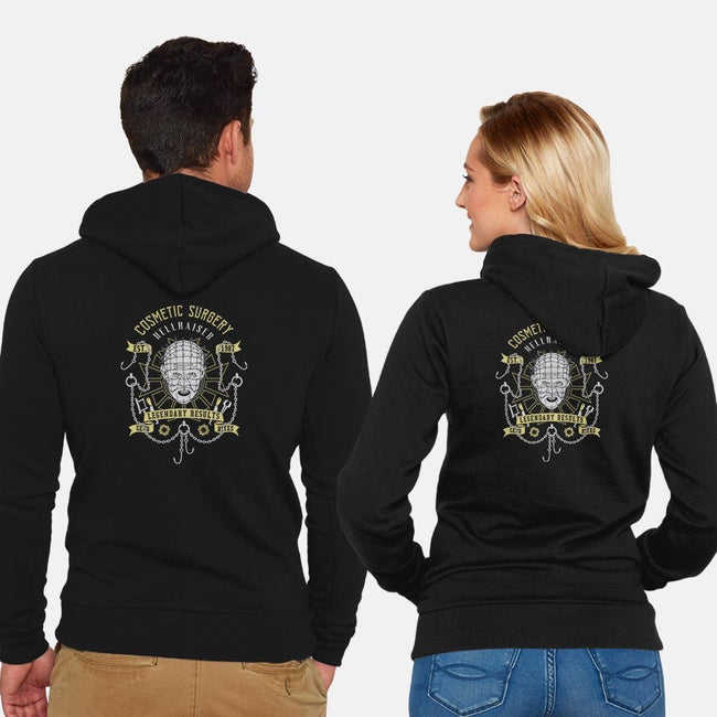 Cosmetic Surgery-unisex zip-up sweatshirt-manospd