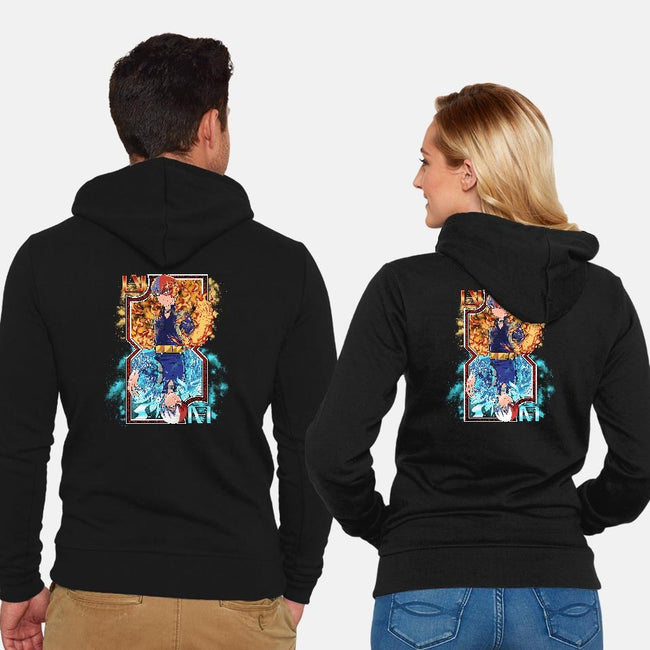 Hot and Cold Card-unisex zip-up sweatshirt-Coinbox Tees