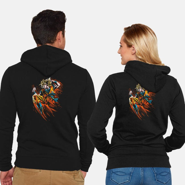 Ink Attack-unisex zip-up sweatshirt-albertocubatas