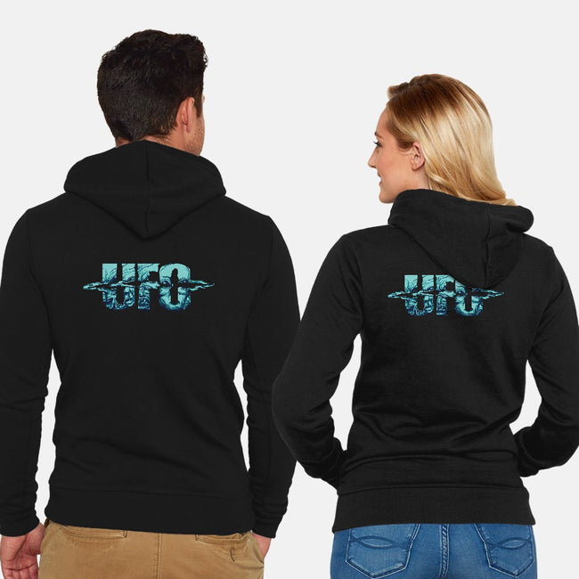 UFO-unisex zip-up sweatshirt-ogie1023