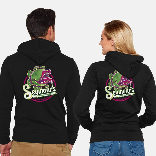 Seymour's Organic Plant Food-unisex zip-up sweatshirt-Nemons