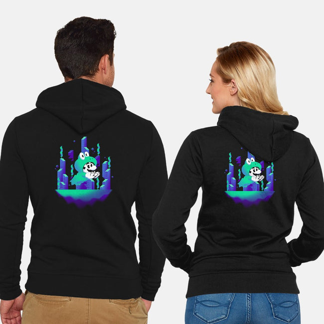 Underwater World-unisex zip-up sweatshirt-Minilla