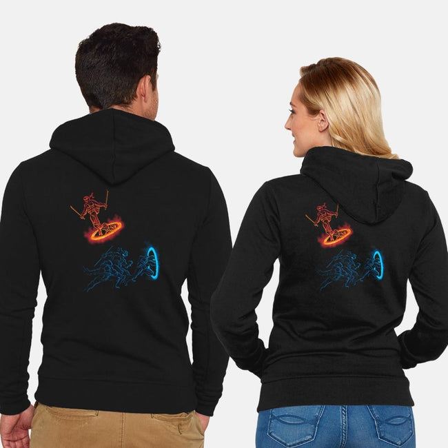 Turtle Portal-unisex zip-up sweatshirt-DJKopet