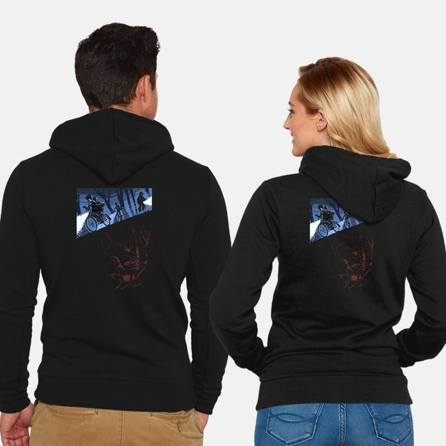 Upside Down-unisex zip-up sweatshirt-idriu95