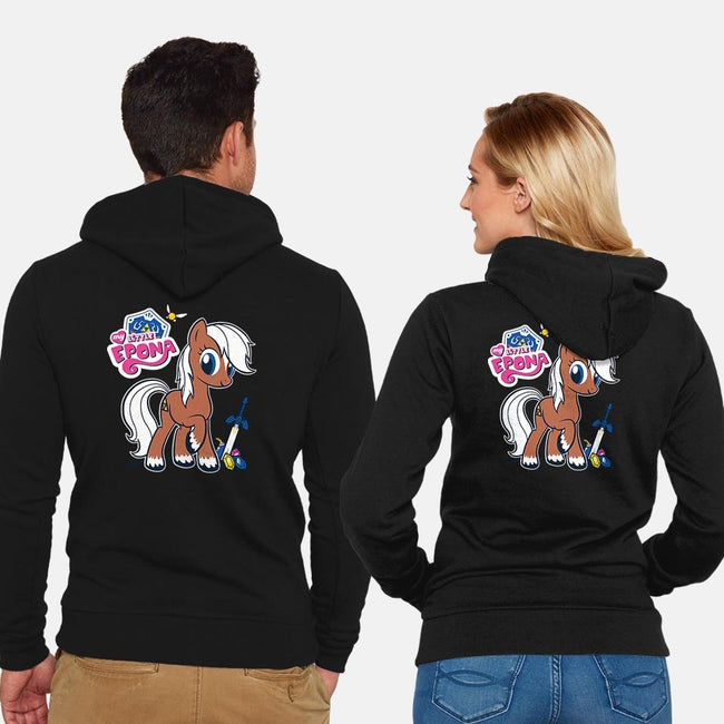 My Little Epona-unisex zip-up sweatshirt-Italiux
