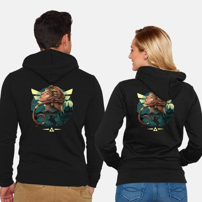 Twilight Princess-unisex zip-up sweatshirt-vp021