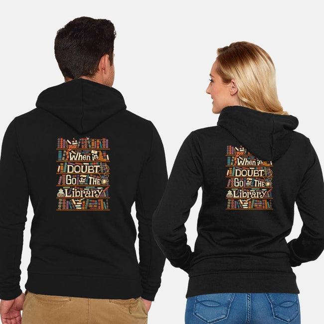 Go To The Library-unisex zip-up sweatshirt-risarodil
