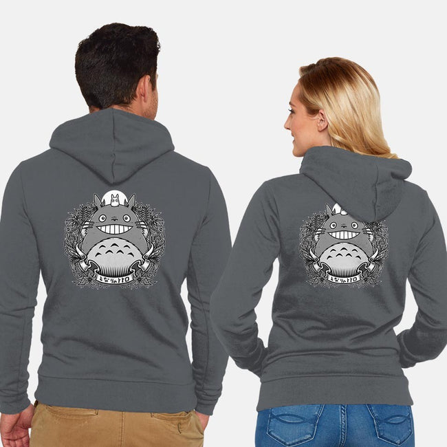 Cute Neighbor-unisex zip-up sweatshirt-StudioM6